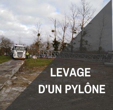 Piste temporaire pour le levage d'un pylône – Opérateur téléphonie mobile en zone blanche